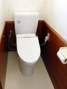 トイレと床のクッション張替えリフォーム