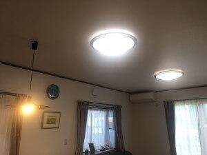 リビングのリフレッシュに伴い、照明をLEDに交換!気分一新リフォーム